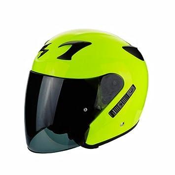 SCORPION - Cascos Moto - Scorpion exo-220 Amarillo Neon: Amazon.es: Coche y moto