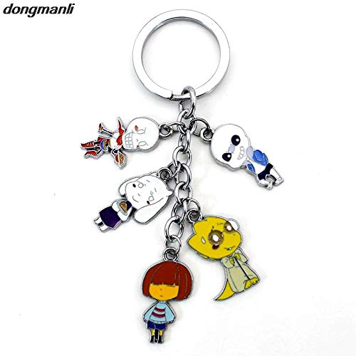 Figure Strap Keychain - Key Chains - Undertale Animals Games Five pcs Cosplay Figures Charms Key Chains Phone Strap Trinkets Accessories Car Keychain - by YPT - 1 PCs