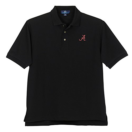 Elite Fan Shop Alabama Crimson Tide Ottoman Knit Polo Black - M