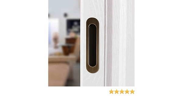 ccjh Invisible tirador de puerta para puerta de madera granero deslizante muebles Hardware marrón: Amazon.es: Hogar