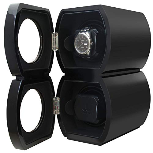 CHIYODA Double Watch Winder with Dual Quiet Mabuchi Motor-Piano Baking Black ()