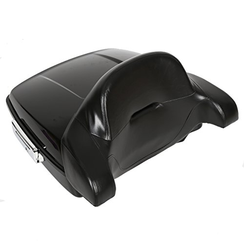 Chopped Tour Pack Touring Pak Trunk Tail Box &Wrap-around Backrest Pad For Harley Touring Models 14-18 New ()