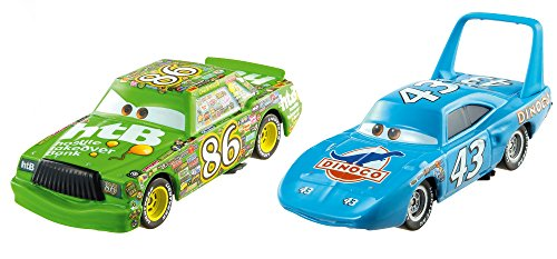 Diecast Chick - Disney Pixar Cars Character Car The King & Chick Hicks Vehicle, 2 Pack
