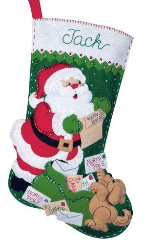 Bucilla Felt Applique Christmas Stocking Kit: Letters to Santa (For Stockings Letters Christmas)