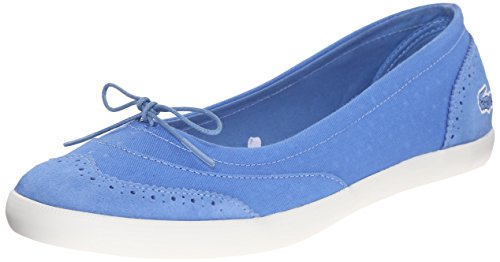 Lacoste Women's Loxia 216 1 Boat Shoe, Blue, 8.5 M US