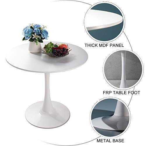 "Used, JAXPETY 32"" Round Pedestal Table in White,Tulip Design for sale  Delivered anywhere in USA"