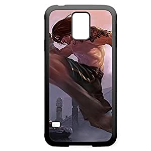 LeeSin-008 League of Legends LoL case cover Samsung Galxy S4 I9500/I9502 - Rubber Black