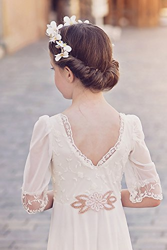 d0e56416b7e Amazon.com  Boho Flower Girl Dress