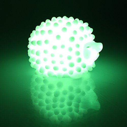 NO:1 Color Changing Night Light LED Color Changing Light Night Lamps for Kids Room White and 7 Color Changing Hedgehog Night Light