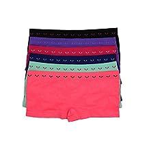 Barbra's 6 Pack Floral Patterned Boyshorts Panties