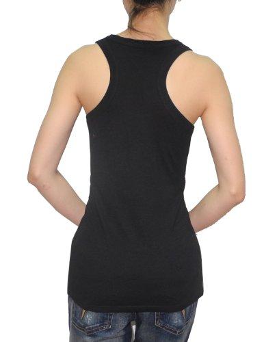 MLB mujer Rockies de Colorado atlético de cuello redondo camiseta (aspecto vintage), MLB, Mujer, color Negro - negro, tamaño XL Negro - negro