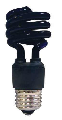 Satco S7277 13 Watt (60 Watt) Mini Spiral Color CFL Light Bulb, Blacklight
