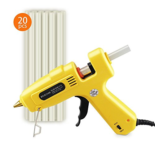 Hot Glue Gun, BOJECHER Full Size 60/100W Dual Power Hot Melt Glue Gun with 20pcs Glue Sticks (0.43 x 7.8) High Temperature Melt Adhesive Glue Gun Kit for Home DIY Craft Projects and Industrial Repair