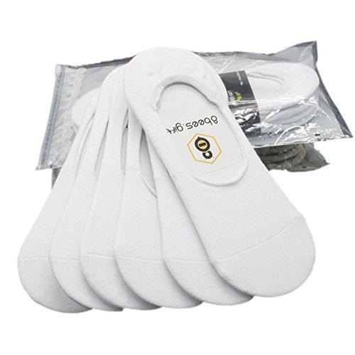 antideslizante calcetines 8 invisible Set blanco 6 de e bees para de regalo de bajos hombres wqwRaOZSA