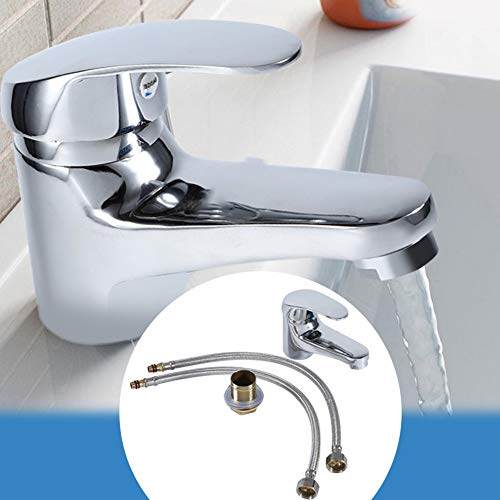 Basin Faucets - Chrome Plating Sink Basin Mixer Faucet Washing Water Tap Hot Cold Fitting Connector Home Kitchen Bathroom - Lav Lavatory Facility Toilet Privy - 1PCs ()