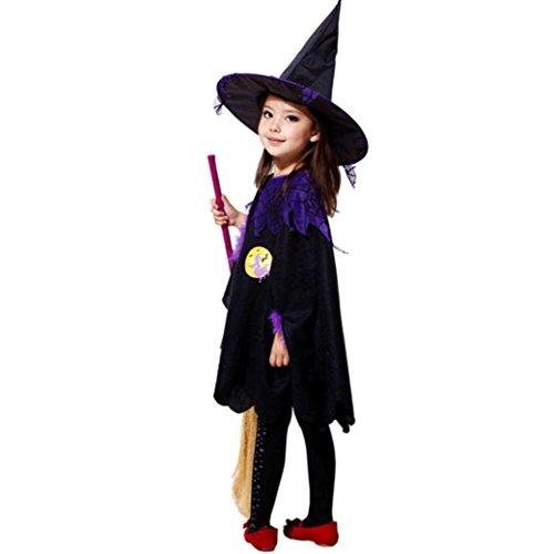 Halloween Kids Baby Girls Clothes, TRENDINAO Toddler Girls Halloween Dress Costume Party Dresses+Witch (Dirty Dancing Halloween)