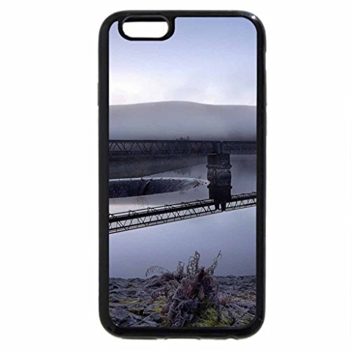iPhone 6S / iPhone 6 Case (Black) pier in a water reservoir in the morning
