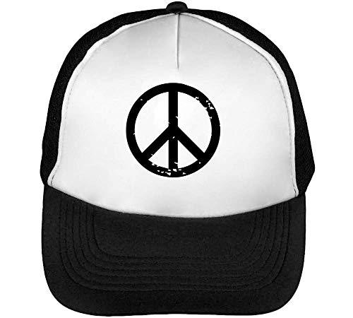 Peace Sign Gorras Hombre Snapback Beisbol Negro Blanco