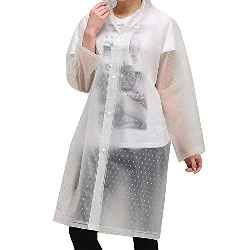 Grün Womens Raincoat Jacket Capucha See Mens Water New Lady Casual Con Eva Battercake Outdoor Chic Through UaqwZ
