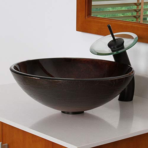 ELITE Luxury Oil Rubbed Bronze Finish Waterfall Faucet for Sink,Faucet by ELITE (Image #6)