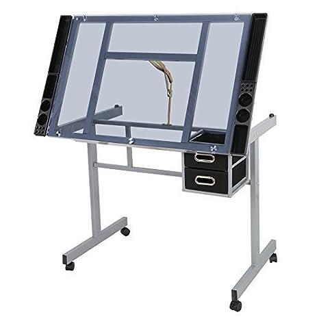 Zeny ajustable cristal vidrio templado de mesa escritorio estación ...