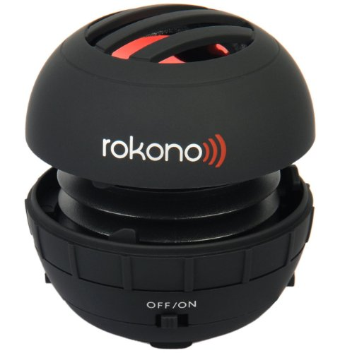 Rokono BASS+ Mini Speaker for iPhone / iPad / iPod / MP3 Player / Laptop – Black