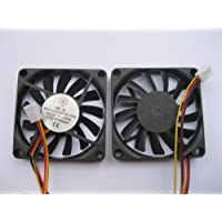 2 pcs Brushless DC Cooling Fan 5V 7010S 13 Blades 3 wire 70x70x10mm Sleeve-bearing Skywalking