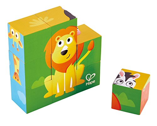 - Hape Jungle Animal Block Puzzle Game, Multicolor, 5'' x 2''