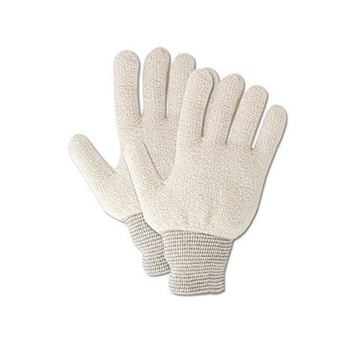 Magid Glove & Safety PT944RJ Magid Terry Master PT944R Medium Weight Loops-Out Terrycloth Gloves, Men's (Fits ), Natural , Jumbo (Fits XL) (Pack of 12)