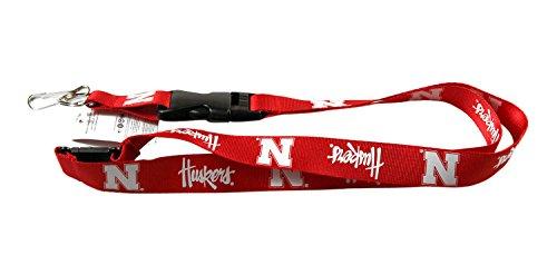 aminco NCAA Nebraska Cornhuskers Lanyard Keychain Id Ticket - Red