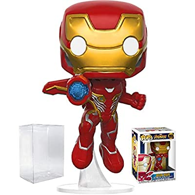 Funko Pop! Marvel: Avengers Infinity War - Iron Man Vinyl Figure (Bundled with Pop Box Protector Case): Toys & Games