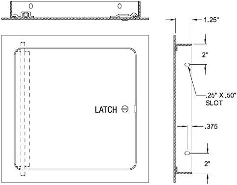 Stainless Steel Best 24 x 24 Universal Flush Premium Access Door with Flange