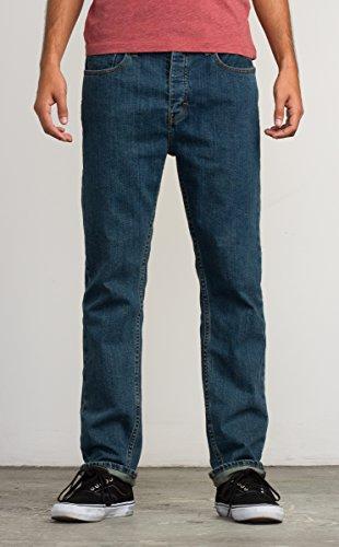 New Mens Blue Jean (RVCA Men's New Normal Jean, Vintage Blue, 36)