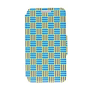 PEACH- Woven RiPEACH-on Pattern PU Leather Full Body Case with Stand for Samsung Galaxy S5 Mini