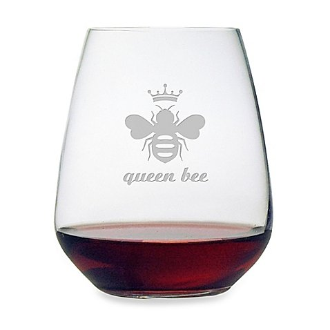 queen bee wine glass - 5