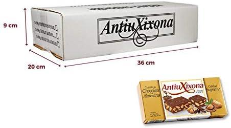 Caja de 12 unidades de Turrón de Chocolate con Almendras Antiu Xixona etiqueta blanca 200gr: Amazon.es: Alimentación y bebidas