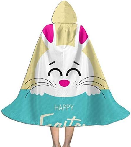 PZUS5D Easter Bunny Christmas Disfraces de Halloween Capa de longitud para ni ntilde;os Bata con capucha Capa de fiesta de cosplay