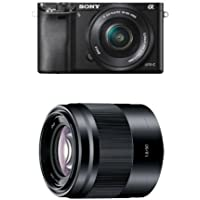 Sony Alpha a6000 Interchangeable Lens Camera with 16-50mm and 50mm Lenses (Black)