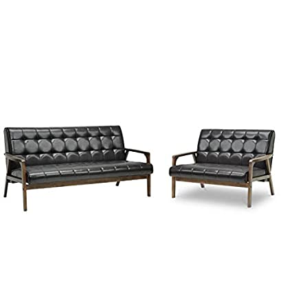 Stupendous Amazon Com Home Square 2 Piece Mid Century Modern Sofa Set Lamtechconsult Wood Chair Design Ideas Lamtechconsultcom