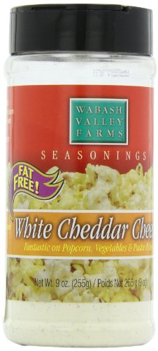 Wabash Valley Farms Popcorn Seasoning, White Cheddar Cheese, 9-Ounce Jars (Pack of 3)