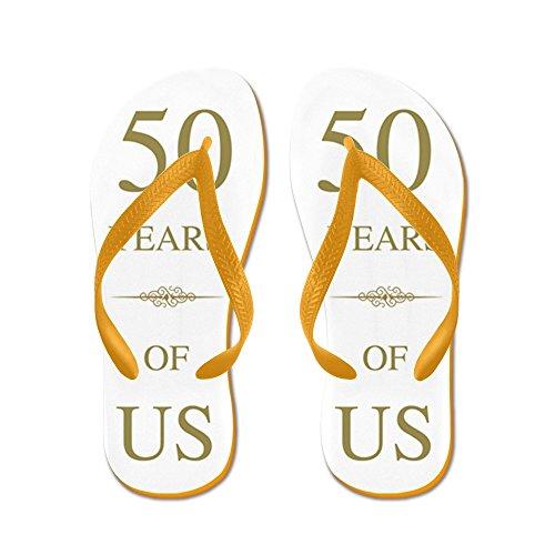 50 ° Anniversario Di Matrimonio - Infradito, Sandali Infradito Divertenti, Sandali Da Spiaggia Arancione