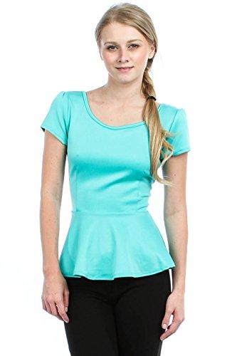 2LUV Womens Sleeve Daisy Peplum product image