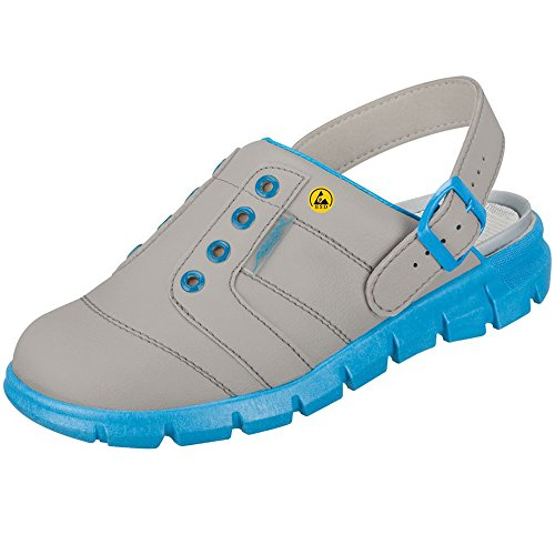 Abeba 37362-38 Dynamic Chaussures sabot ESD Taille 38 Gris/Bleu
