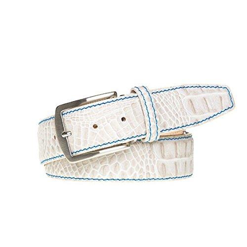 Snow Italian Mock Croc Leather Belt
