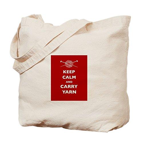CafePress Keep Calm Carry Yarn - Natural Canvas Tote Bag,...
