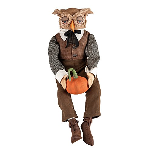 Gallerie II Gathered Traditions Tobias Owl Collectible Figurine, Tan -