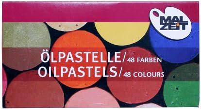 Ölpastellkreide Ölkreiden Öl Kreide Set, farbig sortiert, 48 Stück