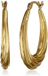Sterling Silver Lightweight Twist Hoop Earrings