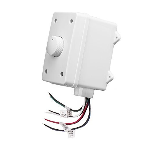 OVC100 Impedance Matching 100W Rotary Knob Style Outdoor Weather Resistant Housing Volume Control - OSD Audio - (White) (Outdoor Housing Wall)