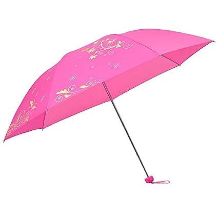 Paraguas plegable automatico Mujer niño Hombre an- Paraguas Estampado Tres Veces - Hombres y Mujeres